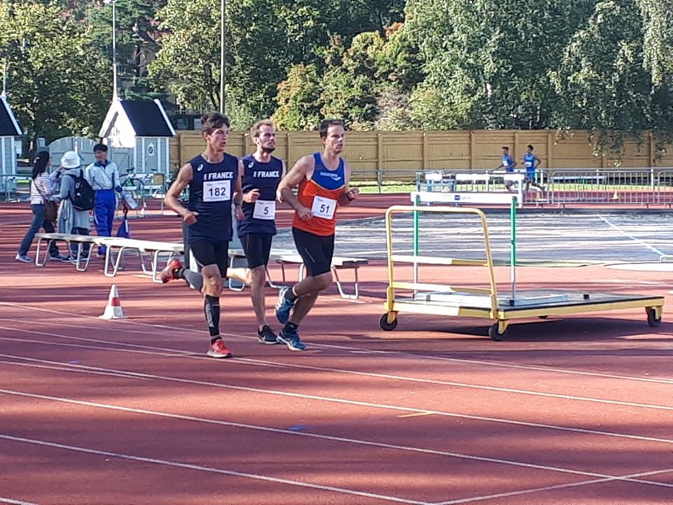 Nicolas Bemer et Thibault Lebret aux Championnats du Monde icosathlon Helsinki 2019 sur 3000m